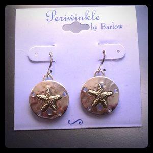 Starfish sand dollar earrings